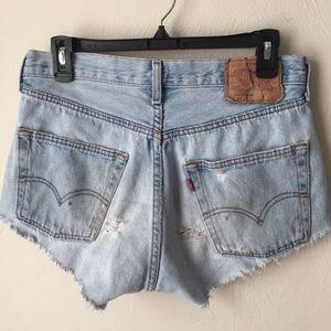 Vintage Levi's 501 Button Fly Cut Off Shorts
